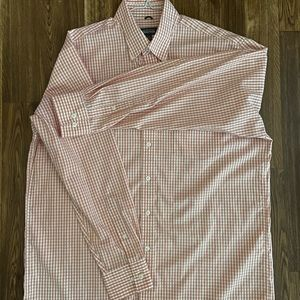 Kenneth Cole Reaction Pink Stripped Dress Shirt